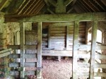 Four-up privy in cattle sheds